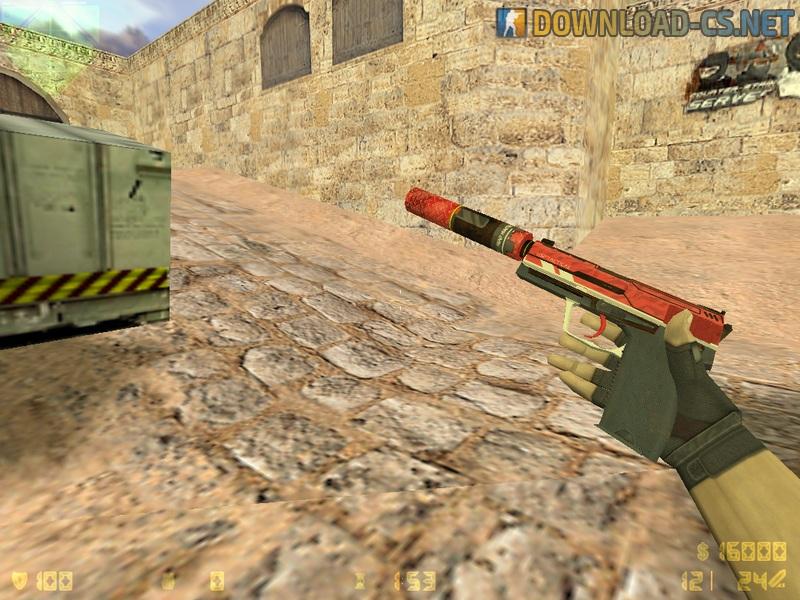 Модель оружия для CS 1.6 - «HD USP Striker»