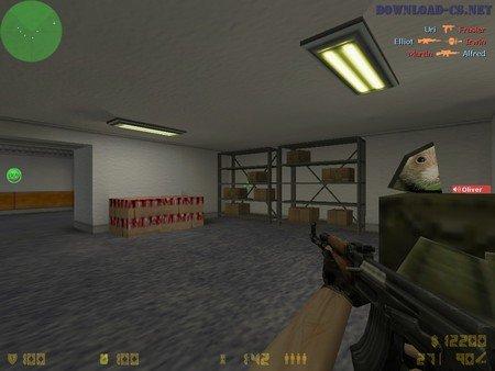 Игра на карте cs_office в CS 1.6